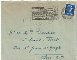 LCTN58/2 - MARIANNE DE MULLER 20f SEUL SUR LETTRE JUILLET 1958 - Storia Postale