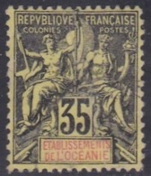 French Oceania, Scott #14, Used, Navigation And Commerce, Issued 1892 - Oceania (1892-1958)