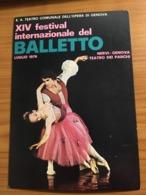 1976 XIV FESTIVAL INTERN. DEL BALLETTO - TEATRO DEI PARCHI GENOVA NERVI - Manifestazioni