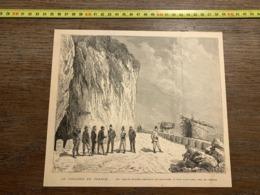 1889 ECDN LE CHOLERA EN FRANCE PONT SAINT LOUIS PRES DE MENTON - Collections