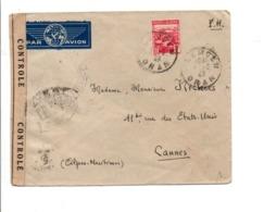 ALGERIE LETTRE DE TLEMCEN POUR LA FRANCE OUVERTE PAR LA CENSURE MILITAIRE 1942 - Covers & Documents