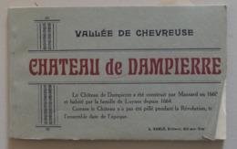 CARNET CHATEAU DE DAMPIERRE 12 Cpa - Dampierre En Yvelines