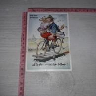C-78186 GRUSS VOM OKTOBERFEST BIRRA BIER COPPIA BICICLETTA ILLUSTRATA UMORISTICA - Künstlerkarten