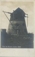 Real Photo Von Den Russen Zerstote Muhle Windmill Prisoner Camp WWI Strasbourg Ribeauvillé - Windmolens