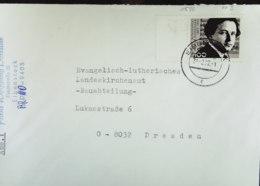 BRD: Brief Mit 100 Pf Honegger Mit PF II Li. Randstück Vom 31.2.92 Knr: 1590 Plattenfehler II - [7] Federal Republic