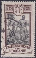 French Oceania, Scott #42, Used, Kanakas, Issued 1913 - Oceania (1892-1958)