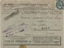 LCTN58/2 - FRANCE BLANC 1c SUR LETTRE ADMINISTRATIVE JUILLET 1928 - 1900-29 Blanc