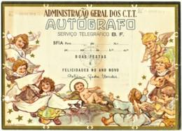 BF1A - 1948 - AUTÓGRAFO - Serviço Telegráfico B. F. - BOAS FESTAS E FELICIDADES NO ANO NOVO - Portugal - Telegraph