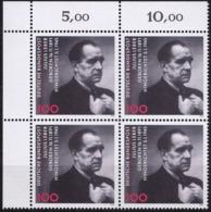 "BRD, 1991 Nr. 1574 **,  Viererblock Mit Eckrand Oben Links, ""Julius Leber"" - [7] République Fédérale"