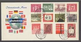 BRD GERMANY 1963 PHOTOKINA KÖLN DEUTZ MESSE EXPOSICIÓN EXPOSITION FAIR EXHIBITION COMMEMORATIVE COVER FLAGS FLAGGEN - Universal Expositions