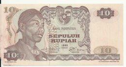 INDONESIE 10 RUPIAH 1968 VG P 105 - Indonesia