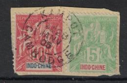 Indochine - Indo-China - Yvert 17 Et 18 Oblitéré KAMPOT - Scott#7,9 - Used Stamps