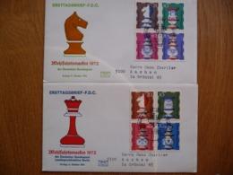 (1) DUITSLAND DEUTSCHE BUNDESPOST 2 FDC  1973 WOHLFAHRTSMARKEN SEE SCAN. CHESS - FDC: Brieven