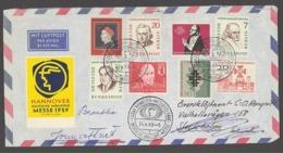 BRD GERMANY 1959 DEUTCHE INDUSTRIE HANNOVER MESSE EXPOSICIÓN EXPOSITION FAIR EXHIBITION - Weltausstellung