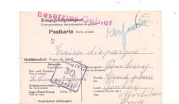 1941 PRISONNIERS DE GUERRE ZONE OCCUPÉE CARTE DU STALAG DE OSCHATZ POUR PONTIVY ( MORBIHAN) - Marcophilie (Lettres)