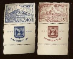 YV. 43-44 ** Mi.57-58 **   Postfrich Sans Charnière.   Cote 100 Euros. Yvert - Israel