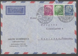 BRD GERMANY 1957 LEDERWAREN MESSE MAROQUINERIE EXPOSITION LEATHER GOODS FAIR EXHIBITION COMMEMORATIVE POSTMARK - Esposizioni Universali