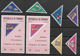 PANAMA - ESPACE- APOLLO- GEMINI -COOPER- MERCURY-8 SUPERBES NEUFS * DONT 2 BLOCS AVEC 1 NON DENTELE- FARFAITS -1964 - Spazio