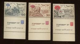 YV. 54-56 ** Mi.69-71 **  Fleurs Bloemen  Postfrich Sans Charnière.   Cote 30 Euros. Yvert - Israel