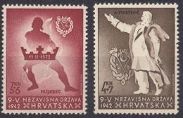 CROAZIA - 1942 - Serie Completa Di 2 Valori Nuovi: Yvert 62 MNH E 63 MH. - Croacia