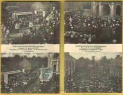 1919 SAINT MARTIN DE CONNEE - 2 Cartes Animées Peu Courantes Pelerinage De 1916 - Francia