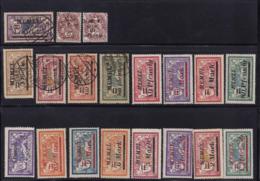 Lot De Merson Et Blanc Surchargés Memel Et Syrie En Neuf**/* Et Oblitérés - Memel (1920-1924)