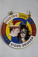 Karnevalsorden Faschingsorden Rosenmontag Kidde-Deugra Helau 2001, Wie Neu, Rare - Carnival