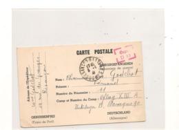 1941 PRISONNIERS DE GUERRE CARTE DE BESANÇON POUR CAMP DE  NUREMBERG - Marcophilie (Lettres)
