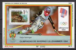 Bolivia 1993 Olympic Games Lillehammer S/s MNH - Winter 1994: Lillehammer