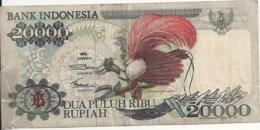 INDONESIE 20000 RUPIAH 1992 VG P 132 A - Indonesia