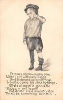 "Boy Uniform ""It Makes A Fellow Mighty Sore..."" Bess Devine? 1912 - Künstlerkarten"