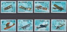 Rwanda Ruanda 1973 OCBn°  889-896  *** MNH Cote 4,50 Euro Avions Vliegtuigen Airplanes - Rwanda