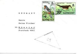 Kingstown Vers Allemagne 1972 Lettre, Cover, Brief. Oiseaux - St.Vincent (...-1979)