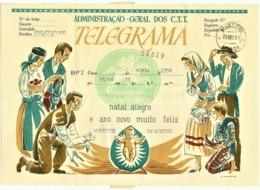 BF2 - 1961 - TELEGRAMA - Administração Geral Dos C.T.T. - Natal Alegre E Ano Novo Feliz - Portugal - Telegraph