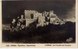 Athenes - Les Propylees De L'acropole - Formato Piccolo Viaggiata Mancante Di Affrancatura – E 14 - Grecia