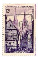 979 Patrimoine - Monument - Paysage Urbain - Maisons - Clocher - Foule - Quimper - Finistère - Usados