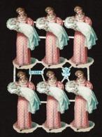 A. Radicke N° 5924 - SCRAP -  DECOUPIS  - Gaufré / Embossed - Woman & Baby - Femme & Bébé - 2 Scans - Other