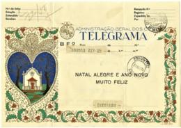 BF2 - 1959 - TELEGRAMA - Administração Geral Dos C.T.T. - NATAL ALEGRE E ANO NOVO MUITO FELIZ - Portugal - Telegraph
