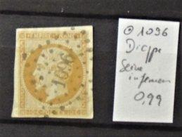 11 - 19 // France N°13  Oblitéré 1096 - Dieppe - Seine Inferieur - 1853-1860 Napoléon III