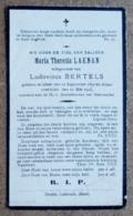 Maria Theresia Laenen, Echtgenoote Van Ludovicus Bertels / Gheel 12 Septemner 1891 - 22 Mei 1928 - Esquela