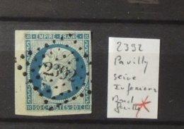 11 - 19 // France N°14 Avec Bord De Feuille Oblitéré 2392 - Pavilly - Seine Inferieure - - 1853-1860 Napoléon III