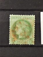 11 - 19 // France N°53 Avec Oblitératrion Rouge - 1871-1875 Cérès