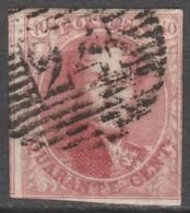 Belgie     .      OBP    .   5    .     O        Gebruikt   .   /   .   Oblitéré - 1849-1850 Medallones (3/5)