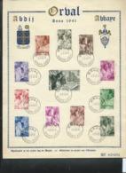 Format A4 Des N° 556/67  Les Moines ORVAL  Obl.  Abbaye - Abdij  01/07/41  ORVAL - ....-1951
