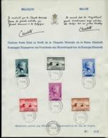 Format A4 Des N°  532/7  Chapelle Musicale  Obl. Bxl - Brussel 1 Du 01/05/40 - FDC