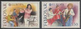 Faroër Faroe Islands 1985 Mi 116 /7   YT 110 /1 Sc 125 /6 SG 113 /4 ** Young People Playing Classical + Modern Music - Kindertijd & Jeugd