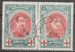 Belgie     .      OBP    .    132 Paar      .     O        Gebruikt   .   /   .   Oblitéré - 1914-1915 Red Cross
