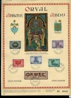 "Format A4 Des N°  625/30  ORVAL "" Les Lettrines""  Obl. ORVAL  08/10/43 - ....-1951"