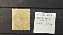 11 - 19 //  Malte - Malta - Yvert N°1 (*) - No Gum - Replaqué - Value 900 Euros - Malte (...-1964)