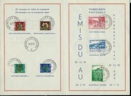Format A5  Des N° 834/40  Antituberculeux 1950   Obl. Bxl 20/12/50 (sanatorium) - ....-1951